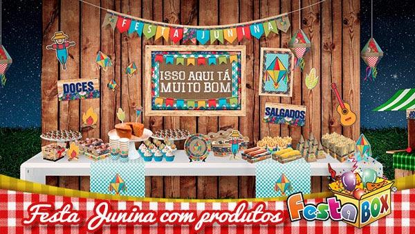 Festa Junina com Produtos FestaBox