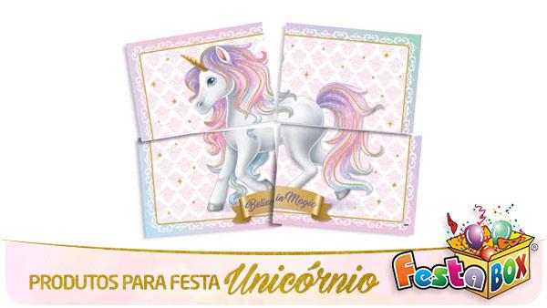 Festa Unicórnio com Produtos FestaBox Painel