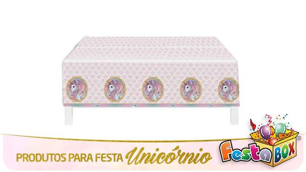 Festa Unicórnio com Produtos FestaBox Toalha de mesa