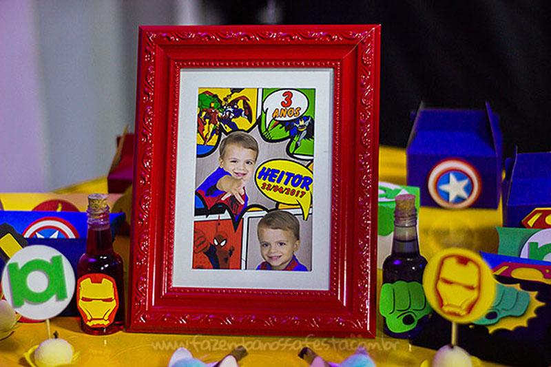 Quadrinho Festa Super-Heróis do Heitor