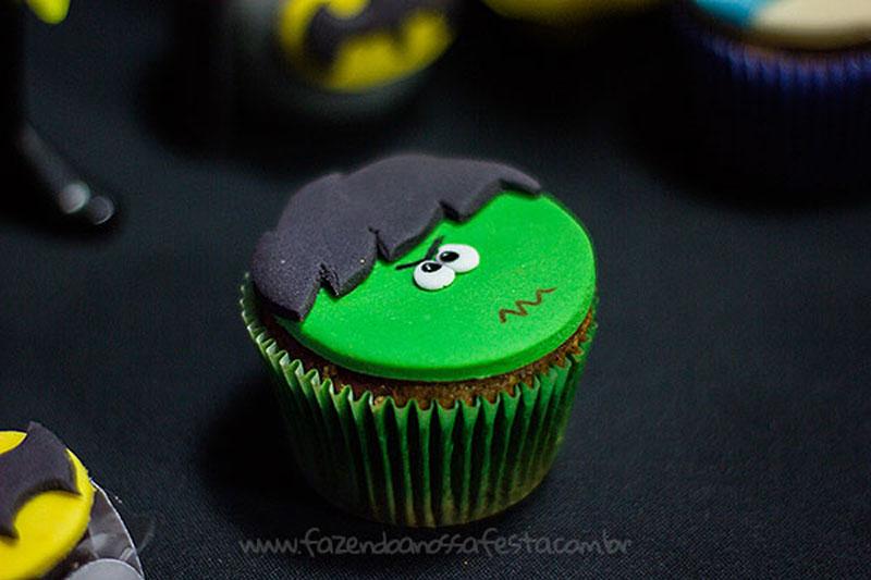 Cupcake Hulk Festa Super-Heróis do Heitor
