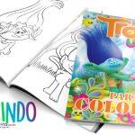 Livrinho para Colorir Trolls Grátis para Imprimir