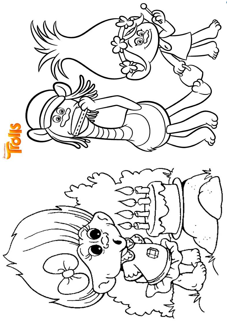 Livrinho para Colorir Trolls 7