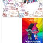 Molde Passaporte Trolls Kit Festa