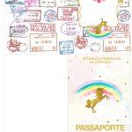 Molde Passaporte Unicórnio