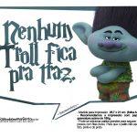 Plaquinhas divertidas Trolls 16