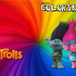 Revista Colorindo Trolls Kit Festa