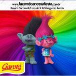 Rótulo Mini Baton Garoto Trolls