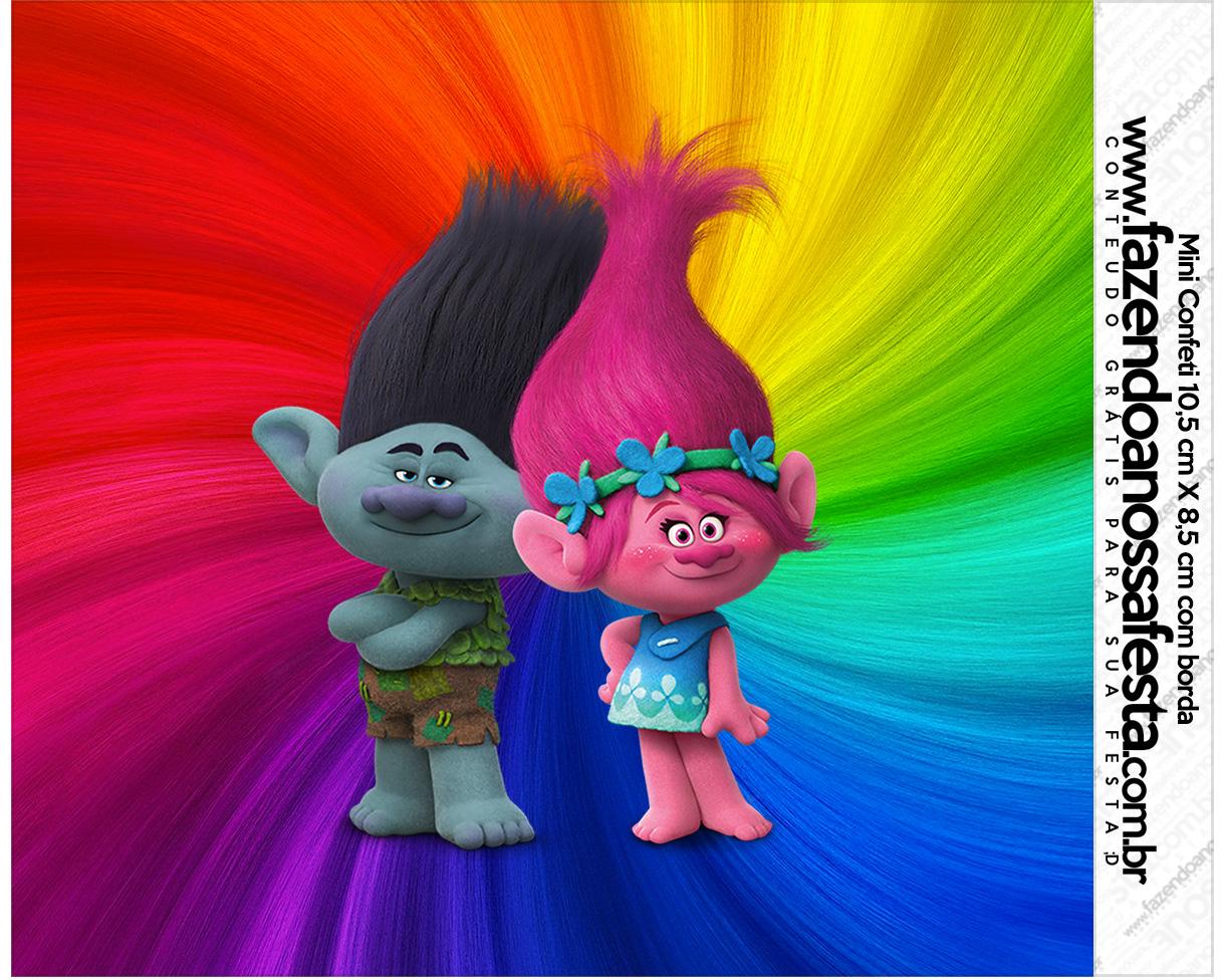 Rótulo Mini Confeti Trolls