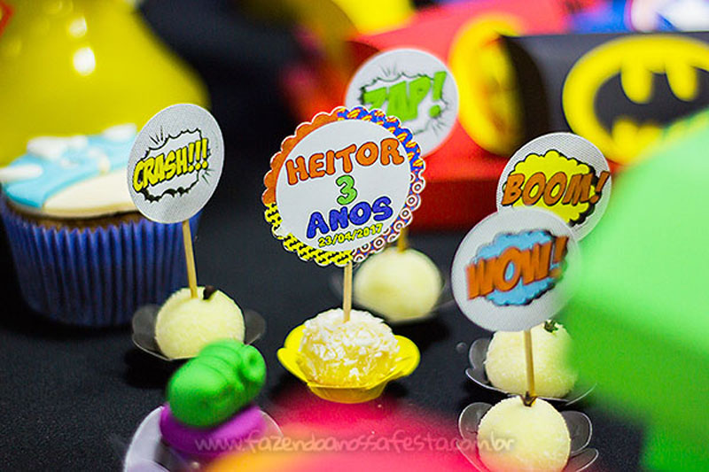Toppers Festa Super-Heróis do Heitor