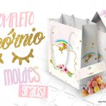 Unicórnio Kit Festa Grátis para Imprimir + 100 Moldes