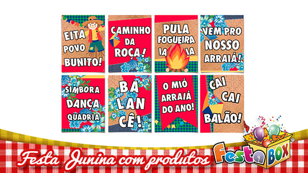 Ideias para Festa Junina personalizada com Produtos FestaBox 13