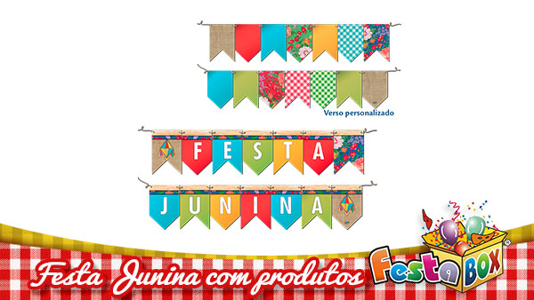 Ideias para Festa Junina personalizada com Produtos FestaBox 4