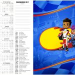 Calendário 2017 2 Blaze and the Monster Machines Kit Festa