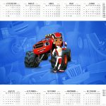 Calendário 2017 Blaze and the Monster Machines Kit Festa