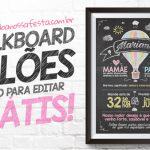 Chalkboard Balão de Ar