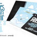 Convite Balão de Ar Quente Azul Grátis para Imprimir
