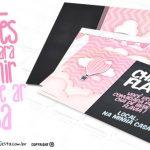 Convite Balão de Ar Quente Rosa Grátis para Imprimir