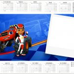 Convite Calendário 2017 Blaze and the Monster Machines Kit Festa