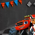 Convite Chalkboard Blaze and the Monster Machines 4