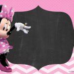 Convite Chalkboard Minnie Rosa