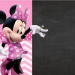 Convite Chalkboard Minnie Rosa 2