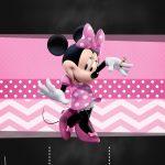 Convite Chalkboard Minnie Rosa 3