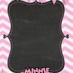 Convite Chalkboard Minnie Rosa 4
