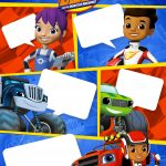 Convite Gibi Blaze and the Monster Machines