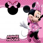 Convite Minnie Rosa 5