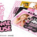 Convite Minnie Rosa 19 Modelos para Imprimir Grátis