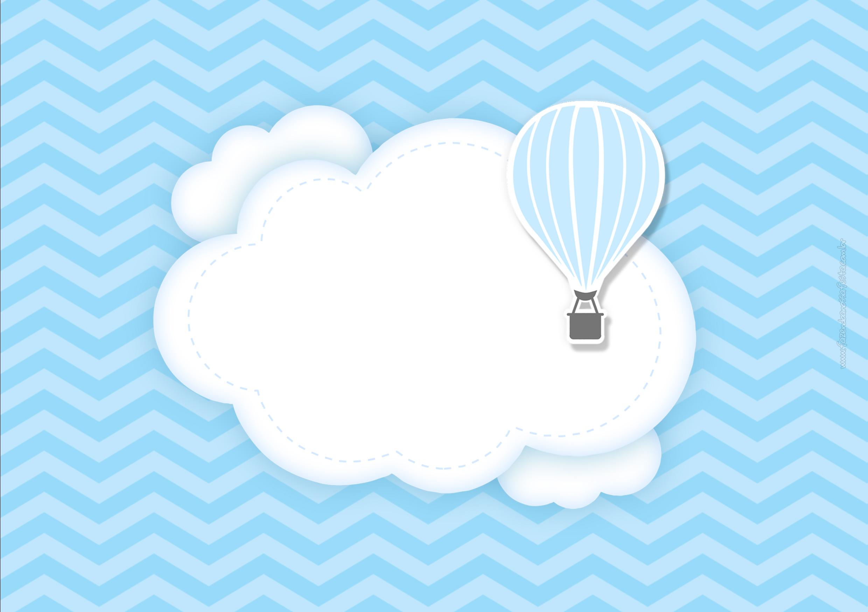 Convite Para Imprimir Balão De Ar Quente Fazendo A Nossa Festa