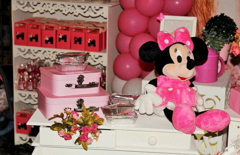 Decoração 3 Festa Minnie Baby da Maria