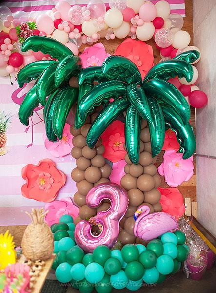 Decoração Festa Infantil Tropical Chic da Geovanna