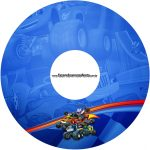 Etiqueta CD DVD Blaze and the Monster Machines Kit Festa