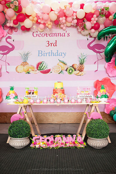 Festa Infantil Tropical Chic da Geovanna 6