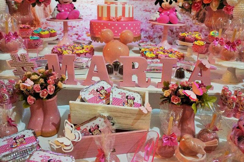 Festa Minnie Baby da Maria