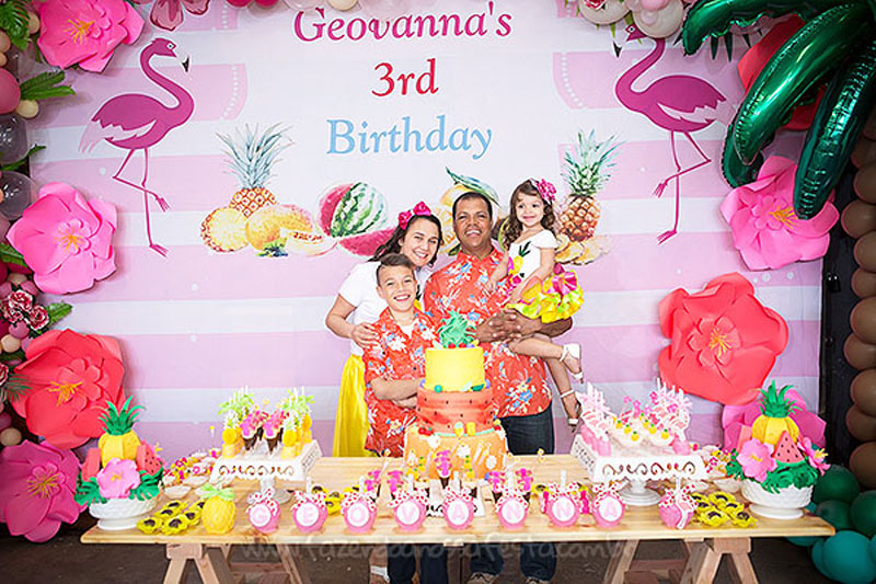 Festa Tropical Chic da Geovanna 7