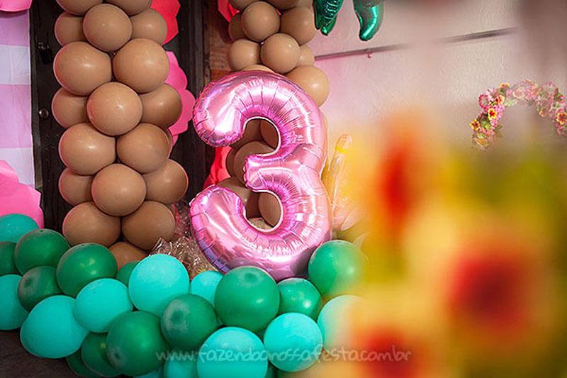 Número gigante Festa Infantil Tropical Chic da Geovanna