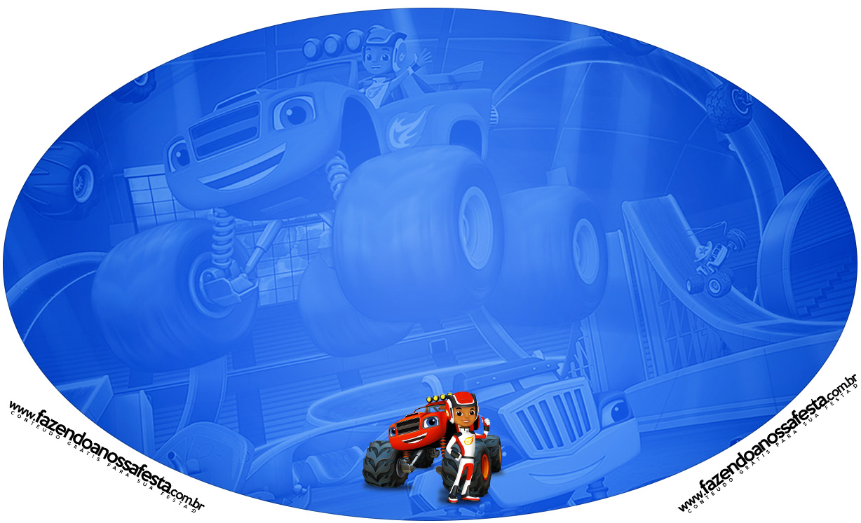Placa Elipse Blaze and the Monster Machines