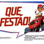 Plaquinha Blaze and the Monster Machines 3