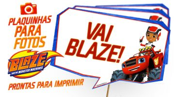 Plaquinha Blaze and the Monster Machines Modelo