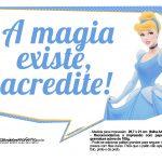 Plaquinha Cinderela A Magia Existe