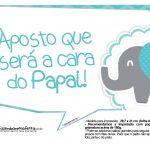 Plaquinhas Elefantinho Chevron Azul Turquesa 45