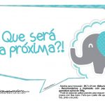 Plaquinhas Elefantinho Chevron Azul Turquesa 48