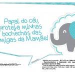Plaquinhas Elefantinho Chevron Azul Turquesa 50