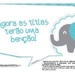 Plaquinhas Elefantinho Chevron Azul Turquesa 53