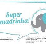 Plaquinhas divertidas Elefantinho Chevron Azul Turquesa 52