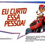 Plaquinhas divertidas Blaze and the Monster Machines 19