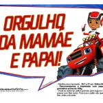 Plaquinhas divertidas Blaze and the Monster Machines 6